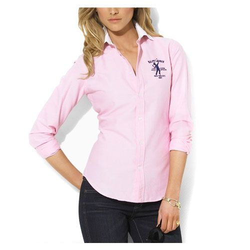 Ralph Lauren Womens Cotton Shirt In Pink. Do they come in 'big boobies' fit?