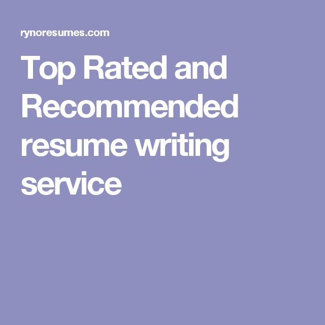 top rated and recommended resume writing service