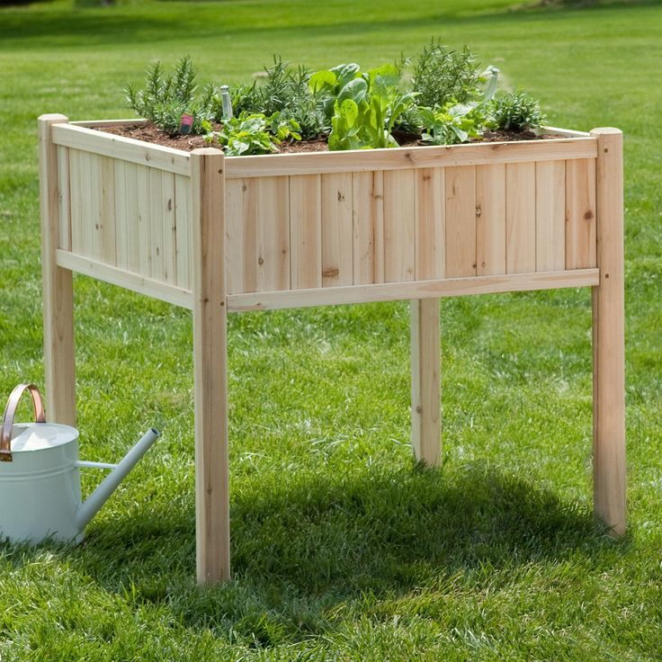 Coral Coast Simply Grow Cedar Raised Patio Planter   $154.98 @