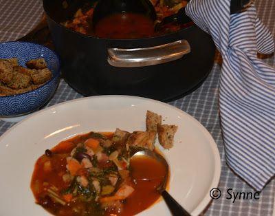 ganske enkelt: Suppe med bønner og grønnkål