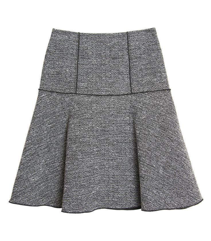 Pre-Fall at #ShopBAZAAR - Proenza Schouler Melange Tweed Tulip Skirt