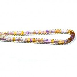 Get the best natural Ametrine gemstone beads from Brazilian Mines. Available in clear Faceted Cut Beads. A single bead measures from 7mm to 8mm. These beads are natural, untreated & beautiful which allure you because it is mixture of Amethyst and Citrine. These beads contains golden energy which helps you to enhance your spiritual and mental aspects.