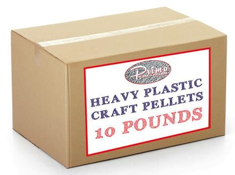 10 POUND BOX of heavy plastic pellets for cornhole bags, weighted blankets and other craft projects