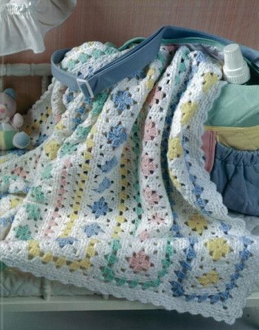 Baby Afghans Book ~ Granny squares set in rows