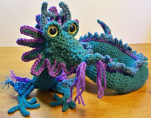 Amigurumi Dragon Wings Pattern : Ravelry: Oriental Dragon crochet pattern by Gail Hovanec ...