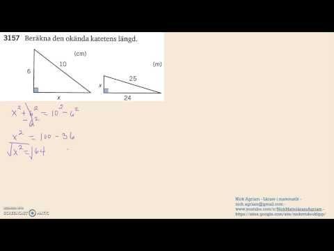 Matematik 5000 Ma 2a   Kapitel 3   Geometri och algebra   Pythagoras sat...