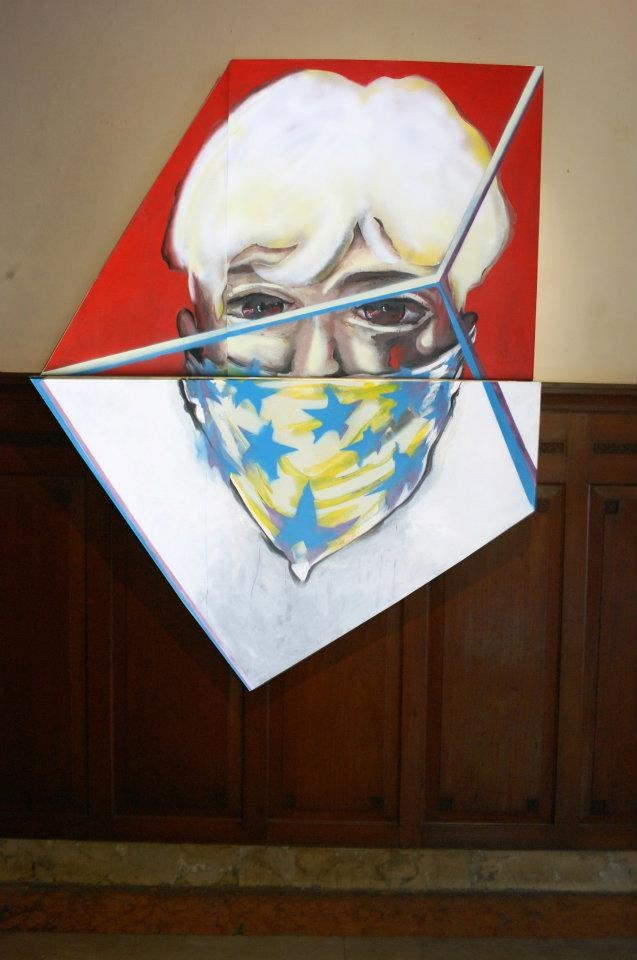 di Depan Warna Merah dan Putih #5  (Warhol's ghost) #art #artists #painting #expretion #face #urban #uniqueshape