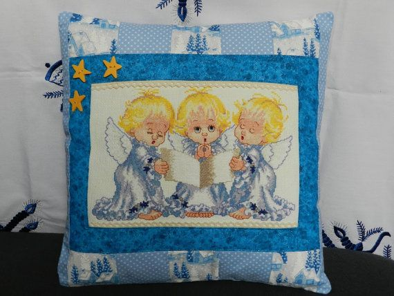 Christmas Angels Cushion Cover Cross stitch by Hungarianhouse