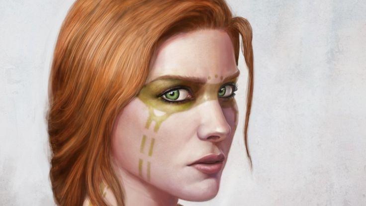 1920x1080 Redhead Fantasy Art