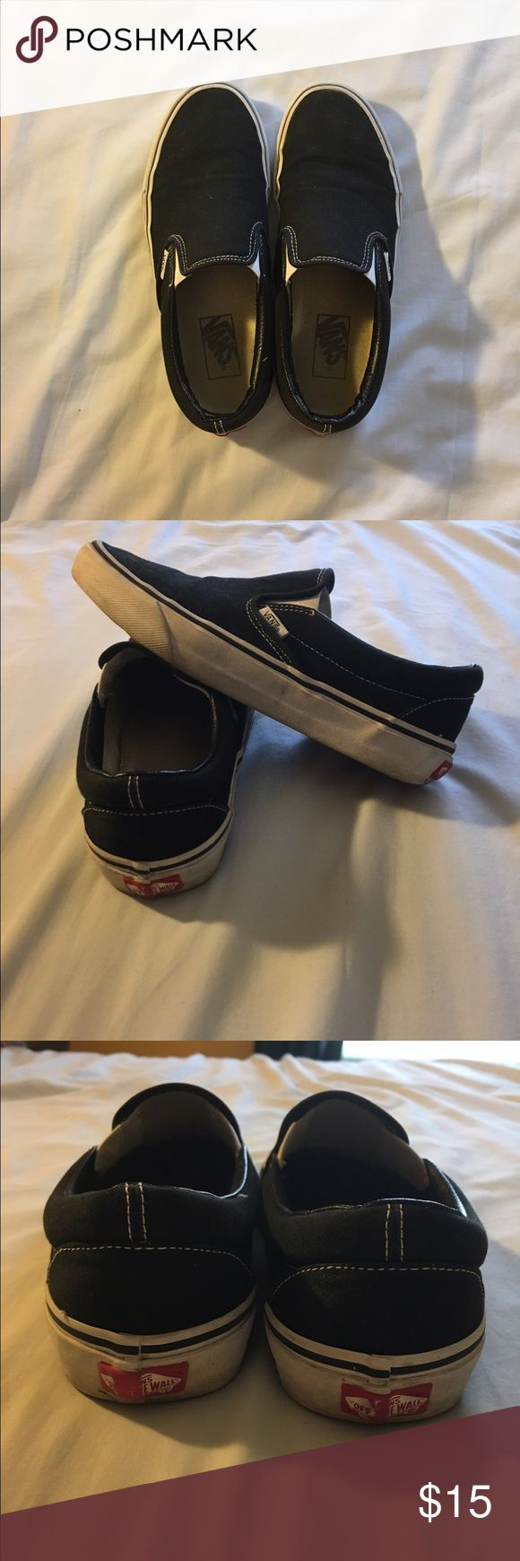Classic Slip-On Vans Price is firm :) Black slip on Vans, so cute with any outfit. Worn a handful of times but in great condition! Vans Shoes Sneakers