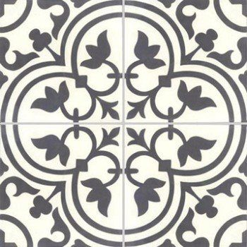 Lot de 4 carreaux de ciment Normandie noir et blanc, l.40 x L.40 cm | Leroy Merlin