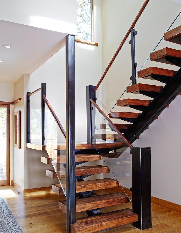 21 Bold Open Tread Staircase Designs Staircase Design   Open Tread Staircase Designs