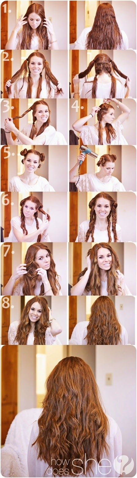 How To: Make Natural looking Beach Curls   Hair  Haircuts  Color