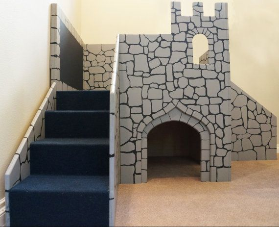 Custom Children's Wooden Castle  Play Gym  Wooden by AdventureBeds, $995.00