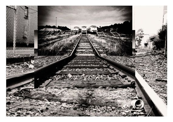 Intersecting Railroads I  Digital Collage print  by Posterium, $15.00