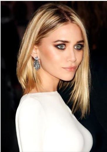 a medium angled bob is very chic but requires strong bone structure like the beautiful Ashley Olsen.