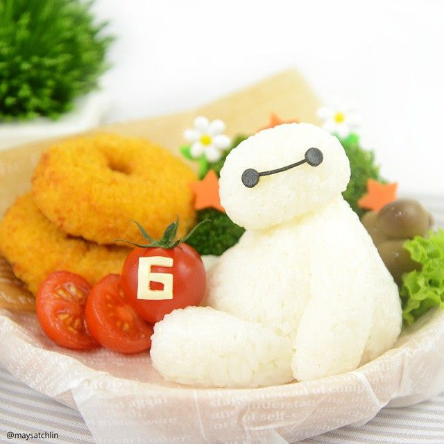 BayMax rice ball - Big Hero 6 inspired kids school lunch box