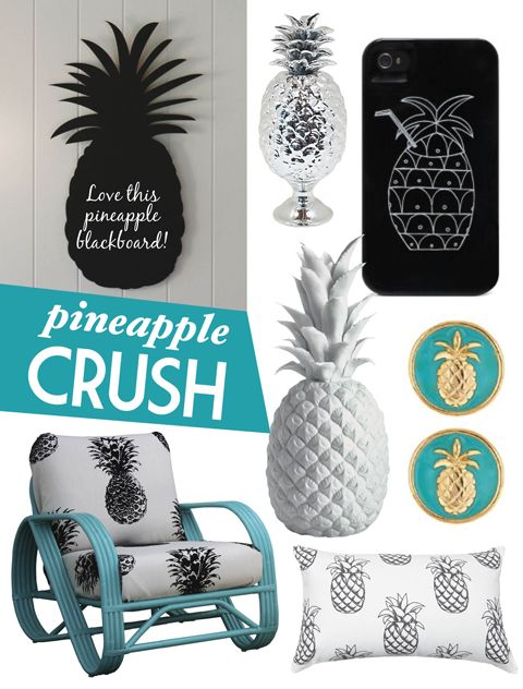 We've got a pineapple crush! Check out these adorable products on Adore Home magazine's blog www.adoremagazine.com/blog: Crushes Always Trendy, Home Magazines, Pineapple Obsession, Magazines Blog, Things Pineapple, Pineapple Home Decor, Blog Www Adoremagazin, Adorable Products, Pineapple Crushes