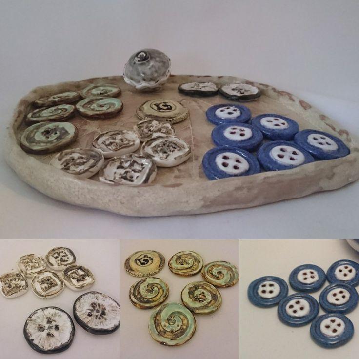 Ceramic buttons. Керамические пуговицы ручной работы.