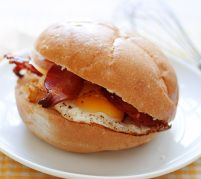 You can't beat a bacon and egg roll for brekky!
