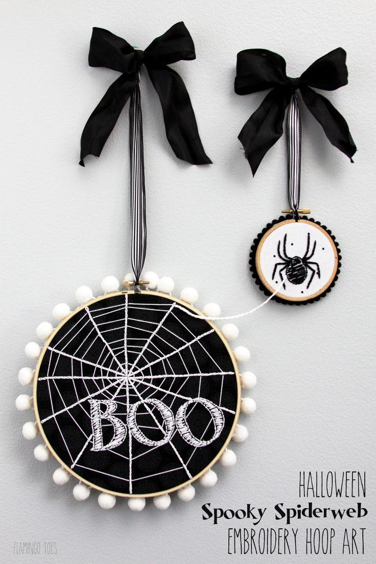 Halloween Spooky Spiderweb Hoop Art