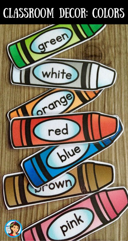 Help your kindergarten class learn their colors and shapes with fun classroom decor! Use the crayon shaped color posters on your bulletin board or add them to your your whiteboard when you are giving directions. The shape posters show the shapes in various sizes and positions this will help your students with form consistency and position  in space.
