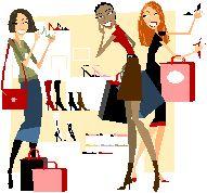 shopping and women