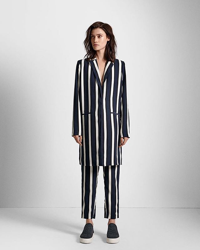 Stripes are in. Monday blues are out.  #Stripes #Fashion #Blue #Minimal #Campaign #Style #Statement