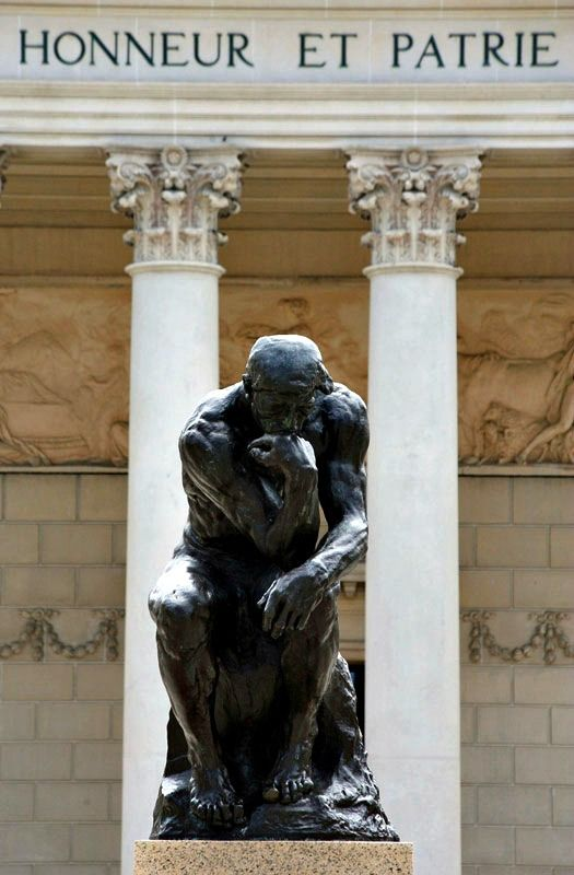 Rodin's Thinker outside the Legion of Honor. The Fine Arts Museums of San Francisco
