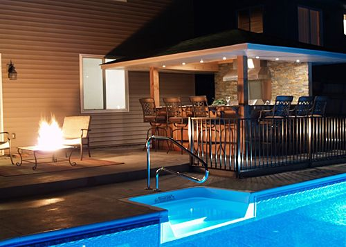 12 Great Ideas For A Modest Backyard: 26 Best Spools Spa And Pools Combined Images On Pinterest