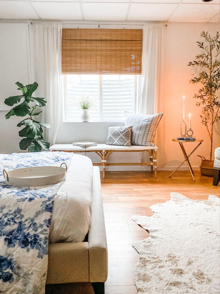 Basement Guest Room Makeover   Shining on Design in 2021   Basement guest rooms, Guest room ...