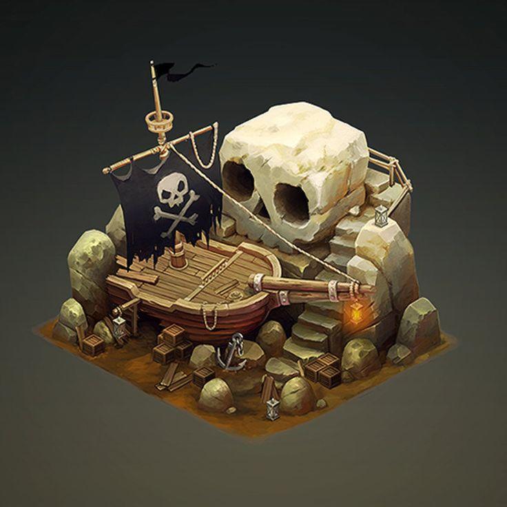 ArtStation - Pirate Ship, Sephiroth Art