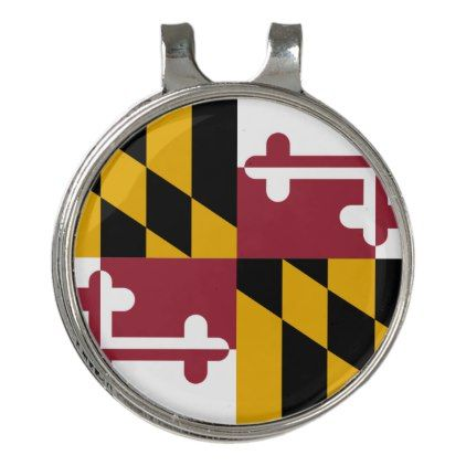 Golf Hat clip and Ball Marker Flag of Maryland - elegant gifts gift ideas custom presents