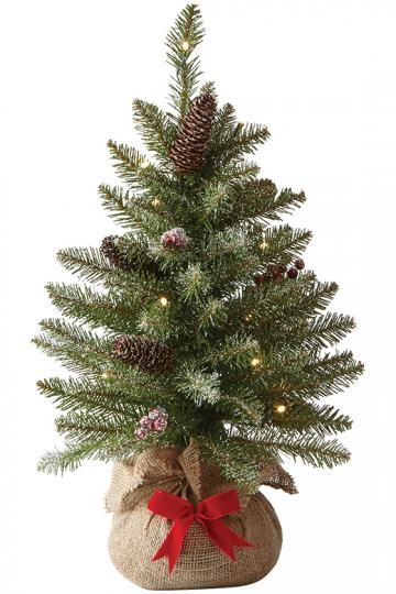 Martha Stewart Living™ Snowy Dunhill Fir Pre-Lit Tabletop Tree