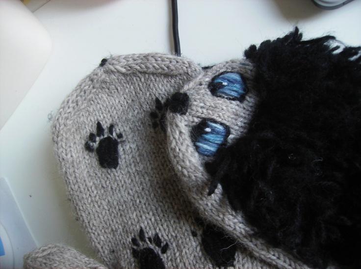 Heh, my first hedgehog wool mittens II.