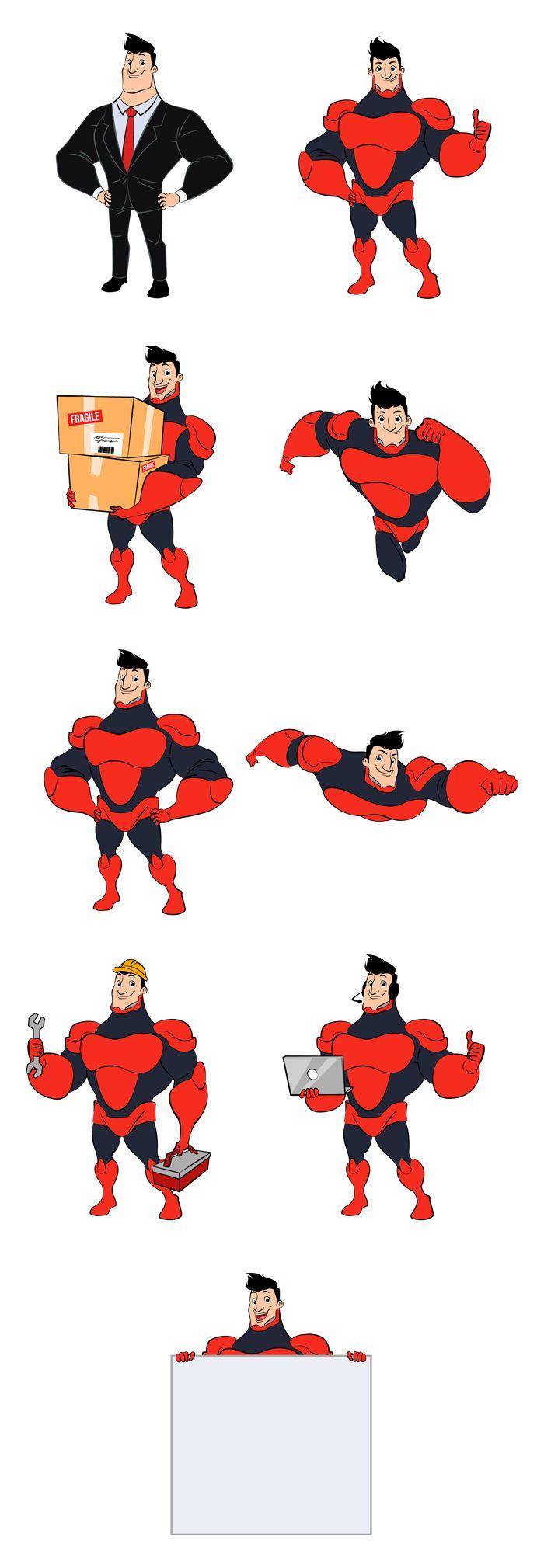 Superhero Illustration Set Ver.1.0 on Behance                                                                                                                                                                                 More