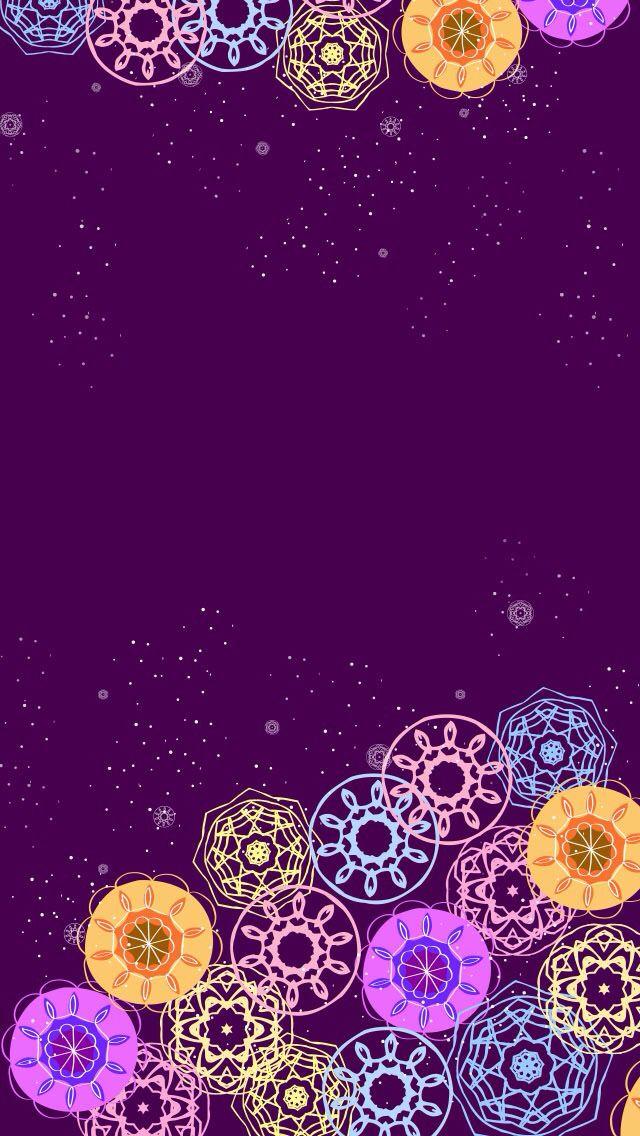Spirograph Wallpaper Background Wallpaper Purple