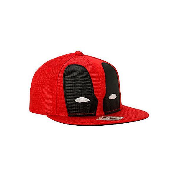 Marvel Deadpool Ballistic Mask Snapback Hat | Hot Topic ($15) ❤ liked on Polyvore