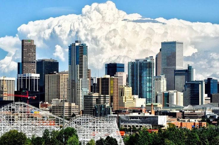 Denver, Colorado - storm brewing on the Eastern Plains in the distance. Nice shot!