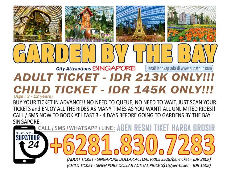Singapore Admission Ticket Garden By The Bay Adult Rp