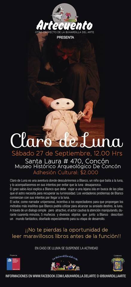 """Obra de teatro """"Claro de Luna"""" en Museo Histórico Arqueológico de Concón"""