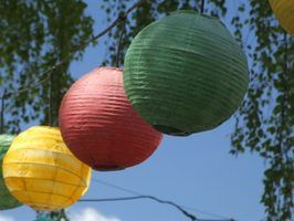 Paper lanterns provide soft illumination as well as pretty decorations.