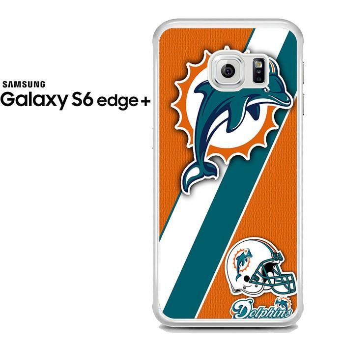 Miami Dolphins Logo Stripe Helmet Samsung Galaxy S6 Edge Plus Case