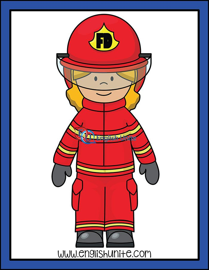 Firefighters Firefighter Woman English Unite Firefighter Clipart Clip Art Firefighter