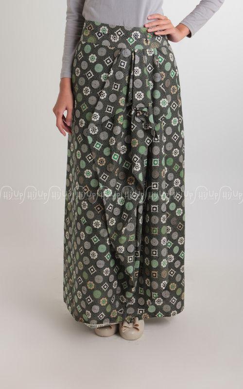 Batik Skirt Green