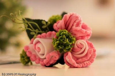 Tutorial for sock corsage