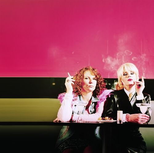 Ab Fab! Studied for all my finals by watching the box set of Absolutely Fabulous :)
