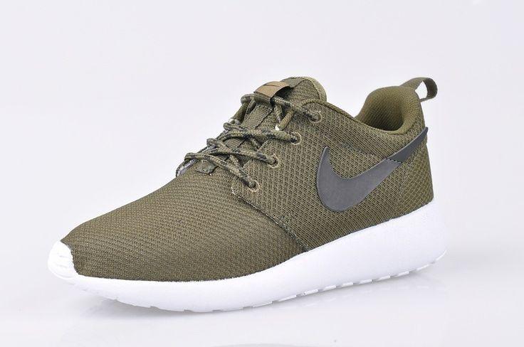Nike Roshe Run Mesh Running Sneaker Legergroen Olijf Houtskool,It's the new fashion style.
