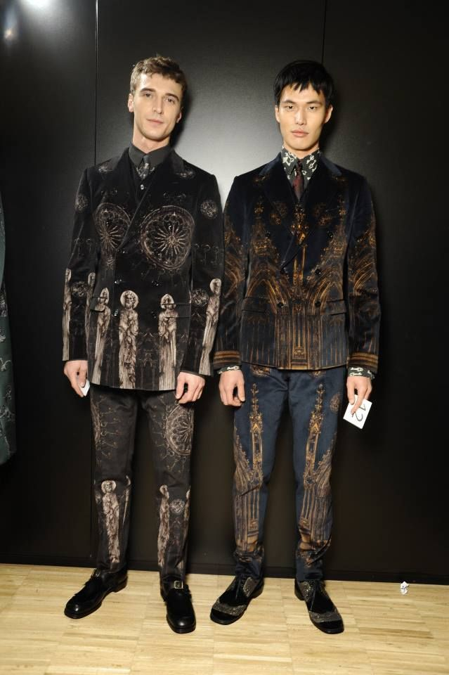Dolce & Gabbana, Autumn 2014.  The jackets would look good with some jeans and some cool boots.  I'm not sure about the pants.