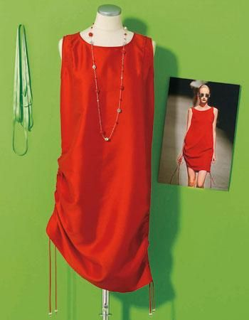 Auf Für Sie finden Sie die Strickanleitung für das geraffte Kleid im Stil Hamilton. Hier finden Sie Laufstegmode zum Nachstricken.
